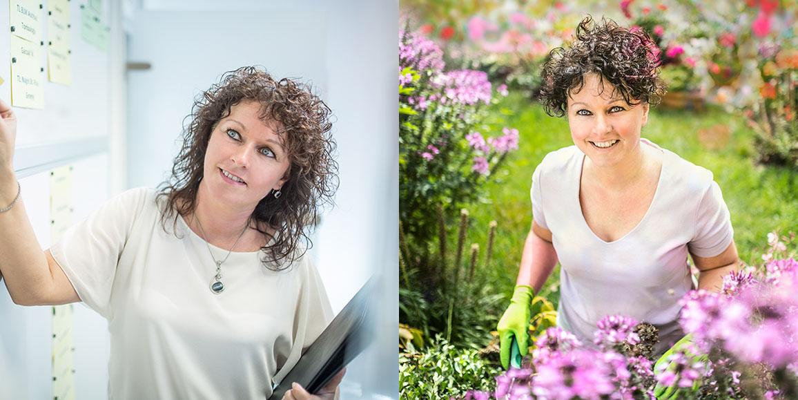 Blumen in allen Farben findet man im Garten von Sabine Marx - hier schöpft sie Kraft für ihre täglichen Aufgaben, kann loslassen und entspannen.